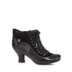 Hush Puppies - Black 'Vivianna' lace up ankle boots