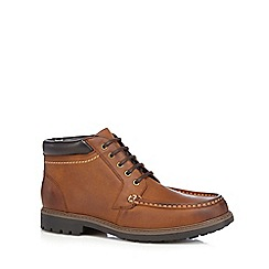 Maine New England - Tan leather apron boots