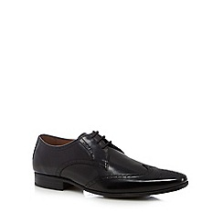 Jeff Banks - Black leather lace up shoes