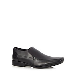 Henley Comfort - Black leather slip-on shoes