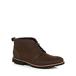 Rockport - Tan lace up suede boots