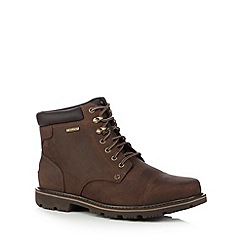 Rockport - Dark brown leather ankle boots