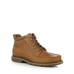 Rockport - Tan leather ankle boots