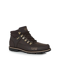 Rockport - Dark brown 'Urban Playground Xcs' leather blend boots