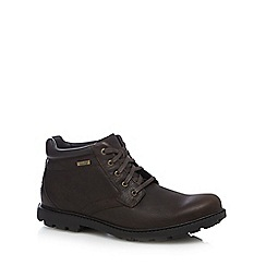 Rockport - Brown leather waterproof ankle boots