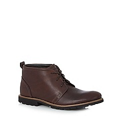 Rockport - Dark brown leather 'Charson' lace up boots