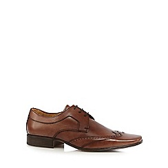 Jeff Banks - Designer tan punched trimmed brogues