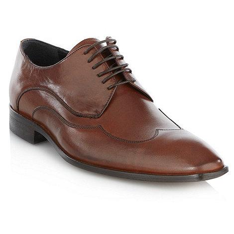 Jeff Banks - Designer brown smart leather shoes