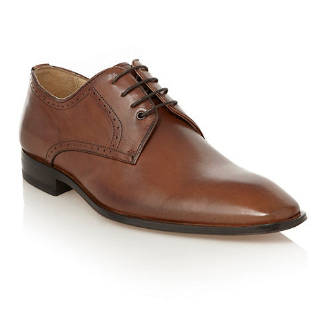 Jeff Banks - Designer brown punched trimmed leather shoes