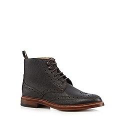 RJR.John Rocha - Dark brown grain ankle boots