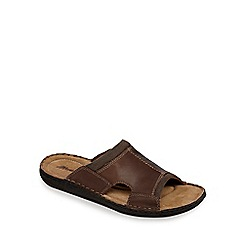 Mantaray - Brown leather mule sandals
