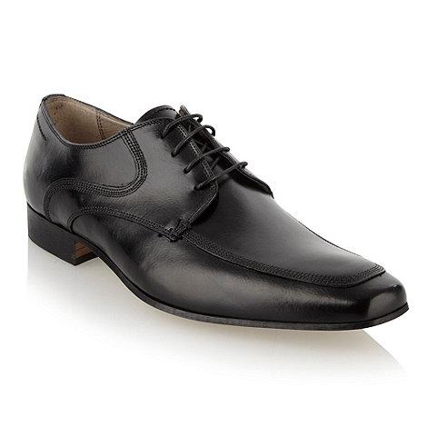 J by Jasper Conran - Designer black leather lace up apron shoes