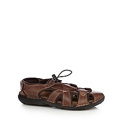 Mantaray - Dark brown walking sandals