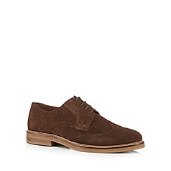 RJR.John Rocha - Dark brown suede brogues