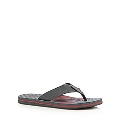 Mantaray - Grey palm tree print sandals