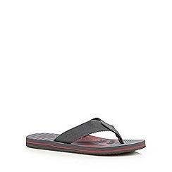 Mantaray - Grey palm tree print sandals