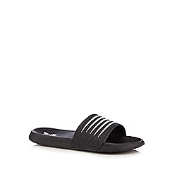 Red Herring - Black striped flip flops