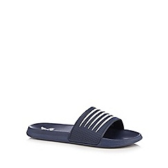 Red Herring - Navy striped flip flops