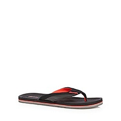 Mantaray - Black logo flip flops