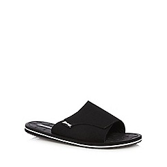 Mantaray - Black rip tape sandals