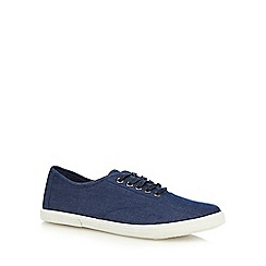 Red Herring - Blue chambray lace up shoes