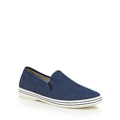 Red Herring - Navy cork slip-on shoes