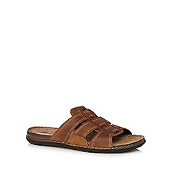 Mantaray - Tan leather mule sandals