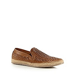 Red Herring - Tan woven slip-on shoes