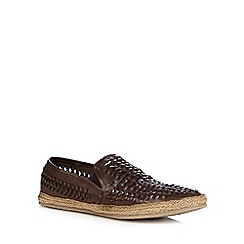 Red Herring - Dark brown woven slip-on shoes