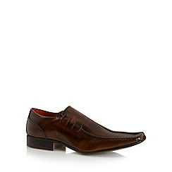 Jeff Banks - Designer tan side lace up shoes