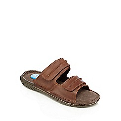 Henley Comfort - Brown 'Walker' mule sandals