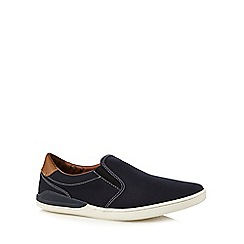 Red Herring - Navy and tan slip-on shoes