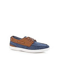 Red Herring - Blue chambray boat shoes