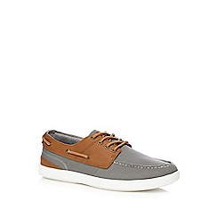 Red Herring - Grey textured boat shoes