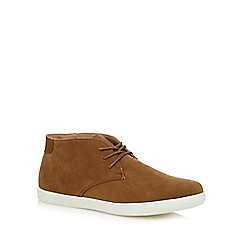 Red Herring - Tan suedette desert boots