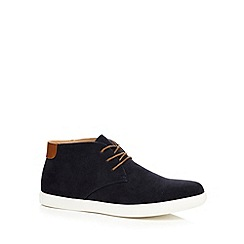 Red Herring - Navy suedette desert boots