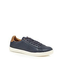 Red Herring - Navy leather trainers