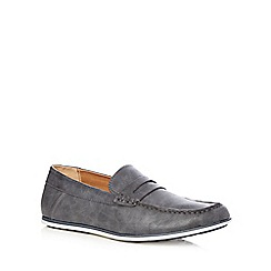 Red Herring - Navy 'Alberti' saddle loafers