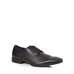 The Collection - Black 'Gary' wing tip brogues