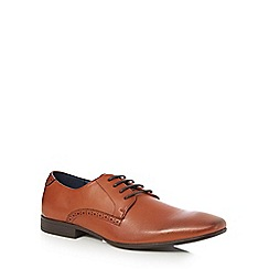 The Collection - Tan 'Norris' Derby shoes