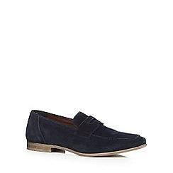 Red Herring - Navy suede loafers