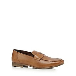 Red Herring - Tan formal lace-up loafers