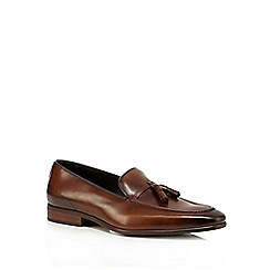 Jeff Banks - Tan leather tassel loafers