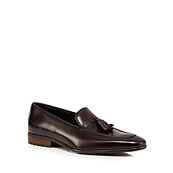 Jeff Banks - Dark brown leather tassel loafers