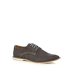 Red Herring - Dark grey suede perforated Derby shoes