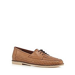 Red Herring - Tan woven loafers