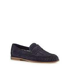 Red Herring - Navy suede woven loafers