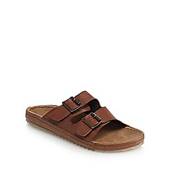 RJR.John Rocha - Tan buckle strap slip-on sandals