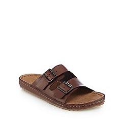 RJR.John Rocha - Brown buckle strap slip-on sandals