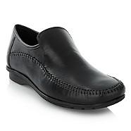 Thomas Nash - Black stitch trim shoes